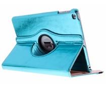 Blauw 360° draaibare glamour tablethoes iPad (2018) / (2017)