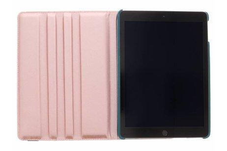 iPad (2017) hoesje - Blauwe 360° draaibare glamour