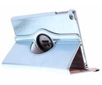Lichtblauw 360° draaibare glamour tablethoes iPad (2017)