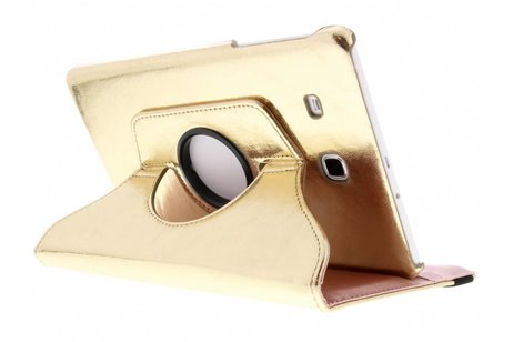 Samsung Galaxy Tab E 9.6 hoesje - Gouden 360° draaibare glamour