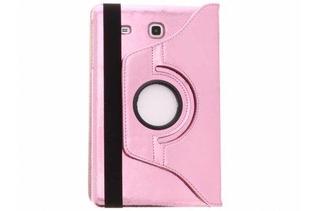 Samsung Galaxy Tab E 9.6 hoesje - Roze 360° draaibare glamour