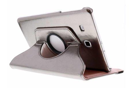 Samsung Galaxy Tab E 9.6 hoesje - Grijze 360° draaibare glamour