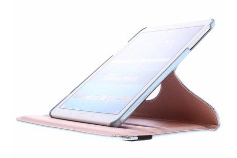 Samsung Galaxy Tab E 9.6 hoesje - Lichtblauwe 360° draaibare glamour