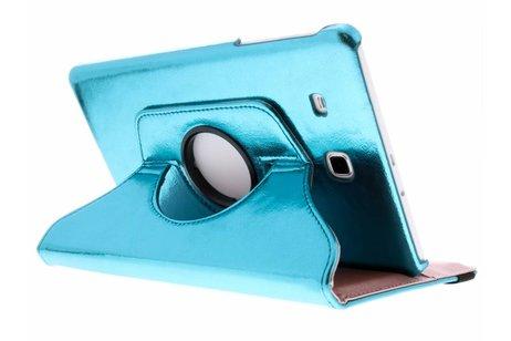 Samsung Galaxy Tab E 9.6 hoesje - Blauwe 360° draaibare glamour