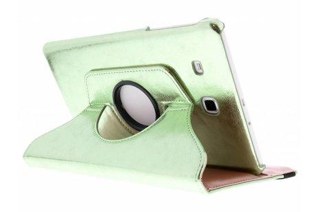 Samsung Galaxy Tab E 9.6 hoesje - Groene 360° draaibare glamour