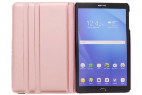 Samsung Galaxy Tab A 10.1 (2016) hoesje - Roze 360° draaibare glamour