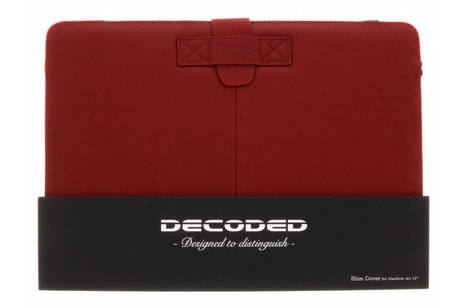 MacBook Air 13.3 inch hoesje - Decoded Rode Leather Slim