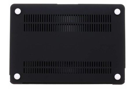 MacBook 12 inch hoesje - Zwarte marmer design hardshell