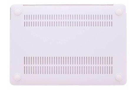 MacBook 12 inch hoesje - Witte marmer design hardshell