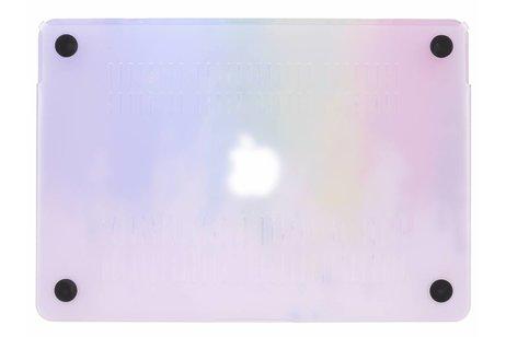 MacBook 12 inch hoesje - Verf design hardshell voor