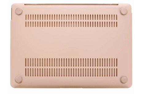 MacBook 12 inch hoesje - Gouden metallic hardshell voor