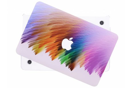 MacBook Air 11.6 inch hoesje - Kleurstrepen design hardshell voor