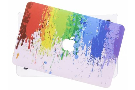 MacBook Air 11.6 inch hoesje - Verf design hardshell voor