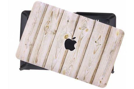 MacBook Air 11.6 inch hoesje - Lichtbruin hout design hardshell
