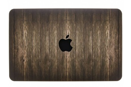 MacBook Air 11.6 inch hoesje - Hout design hardshell voor