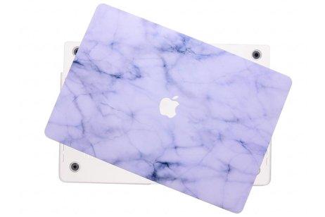 MacBook Pro Retina 15.4 inch Touch Bar hoesje - Marmer design hardshell voor