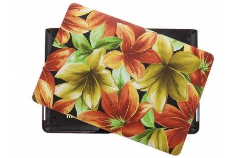 MacBook Pro Retina 15.4 inch (2013-2017) hoesje - Bloemen design hardshell voor