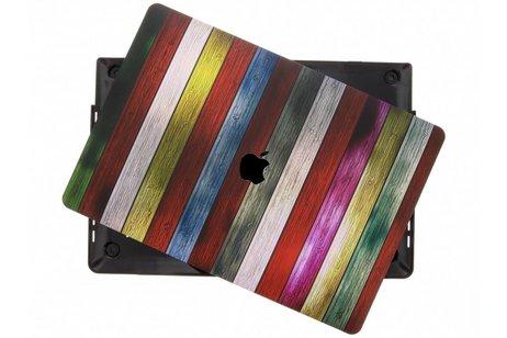 MacBook Pro Retina 15.4 inch Touch Bar hoesje - Hout design hardshell voor