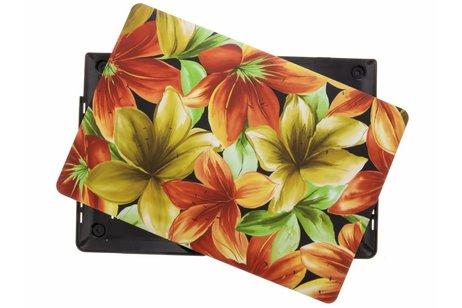 MacBook Pro Retina 15.4 inch Touch Bar hoesje - Bloemen design hardshell voor