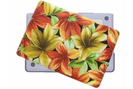 MacBook Pro 15.4 inch hoesje - Bloemen design hardshell voor