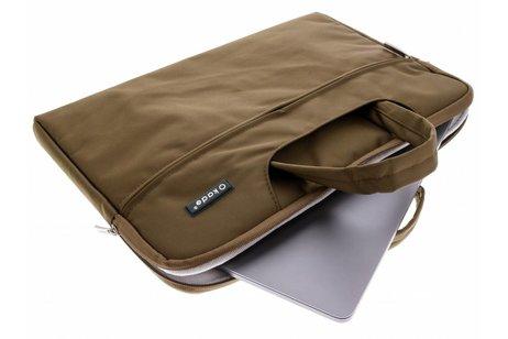 Bruine universele laptoptas 15 inch