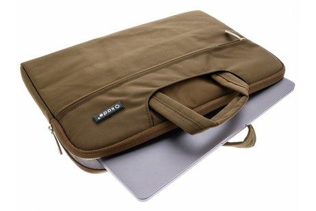 Bruine universele laptoptas 13 inch