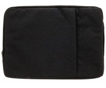 Zwart textiel universele sleeve 15 inch