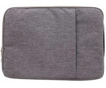 Grijs textiel universele sleeve 15 inch