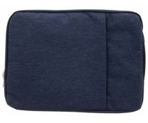 Donkerblauw textiel universele sleeve 15 inch