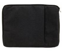 Zwart textiel universele sleeve 13.3 inch