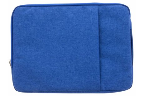 Blauwe textiel universele sleeve voor de 13.3 inch