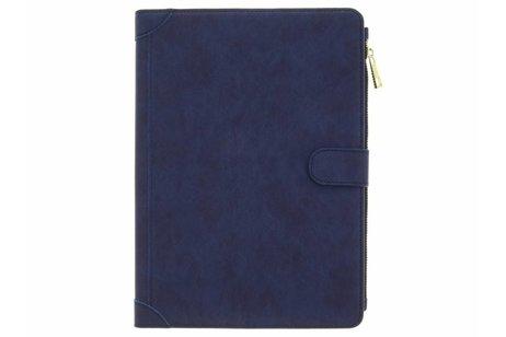 Blauwe luxe booktype met rits voor de iPad (2018) / (2017)