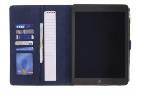 iPad (2017) hoesje - Blauwe luxe booktype met
