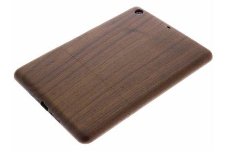 Donkerbruine houten hardcase tablethoes iPad Mini 2 / 3