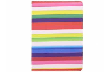 iPad Air hoesje - 360° draaibare Regenboog strepen