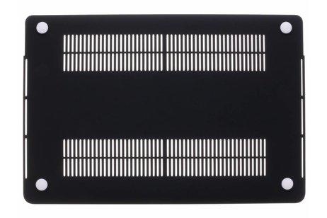 MacBook Pro Retina 15.4 inch Touch Bar hoesje - Zwart marmer design hardshell