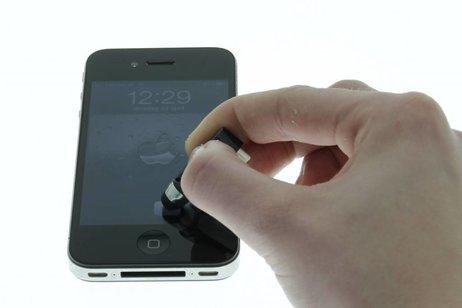 Compacte stylus en anti stof plug in één - Goud