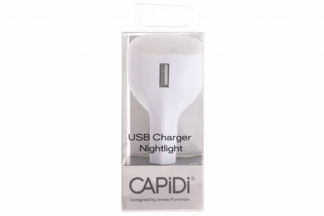 Capidi Witte USB Charger & Nightlight - 1 ampère