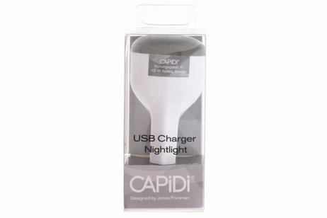 Capidi Grijze USB Charger & Nightlight - 2,1 ampère