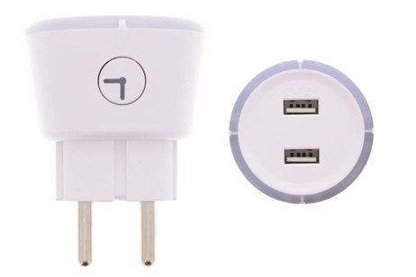 Capidi Witte Dual USB Charger Timer - 3,4 ampère
