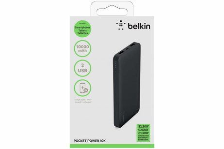 Belkin Zwarte Pocket Powerbank 10.000 mAh