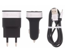 Selencia Zwart USB Oplaadkit 3 in 1
