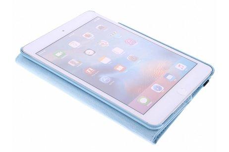 iPad Mini 4 hoesje - Turquoise 360° draaibare tablethoes