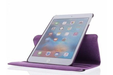iPad Mini 4 hoesje - Paarse 360° draaibare tablethoes