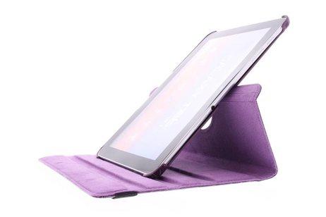 Samsung Galaxy Tab 2 10.1 hoesje - Paarse krokodil 360° draaibare