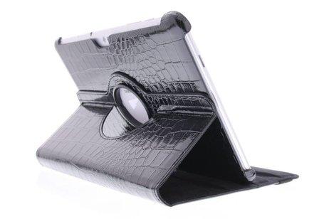 Samsung Galaxy Tab 2 10.1 hoesje - Zwarte krokodil 360° draaibare