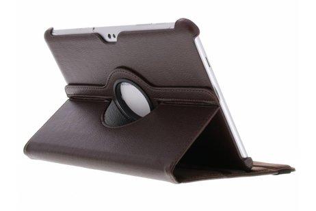 Samsung Galaxy Tab 2 10.1 hoesje - Bruine 360° draaibare tablethoes