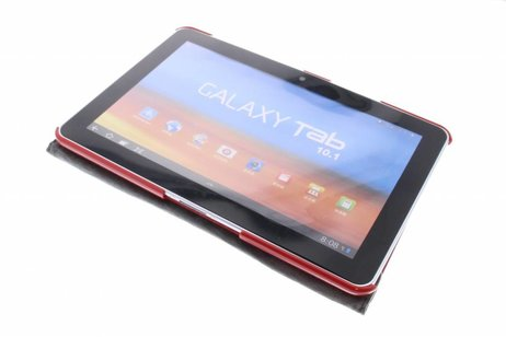 Samsung Galaxy Tab 2 10.1 hoesje - Rode 360° draaibare tablethoes