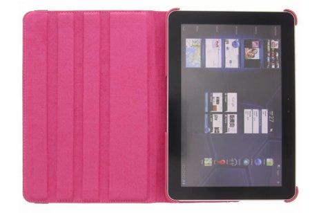Samsung Galaxy Tab 2 10.1 hoesje - Fuchsia 360° draaibare tablethoes