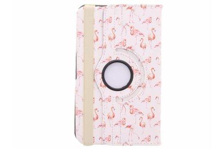 Samsung Galaxy Tab 3 8.0 hoesje - 360° draaibare flamingo design